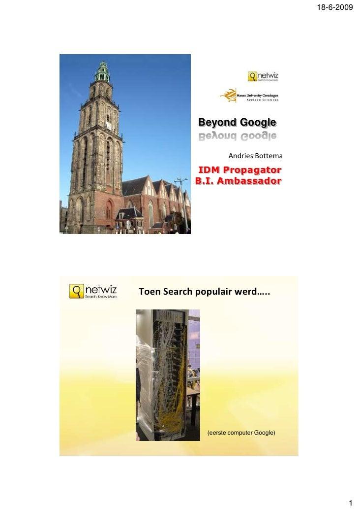 Innoveren met Informatie '09 - Keynote Andries Bottema