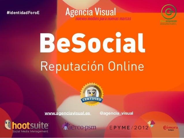 Taller de Reputación Online impartido en Foro Emprende 2012
