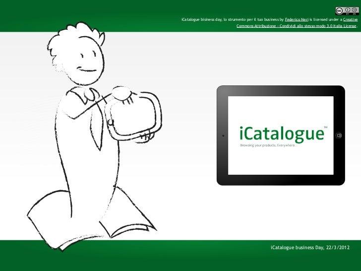iCatalogue business Day, lo strumento per il tuo business