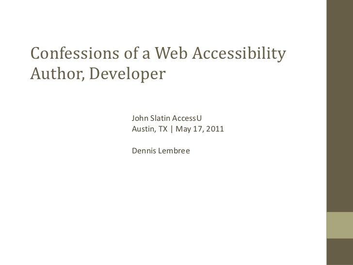 AccessU 2011 Keynote