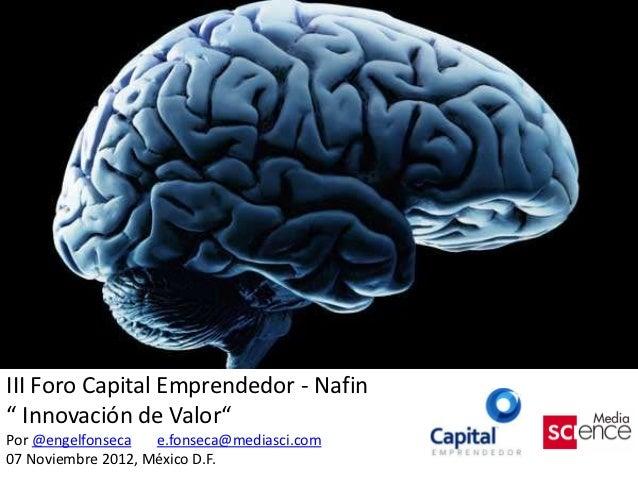 Innovación de Valor por Engel Fonseca