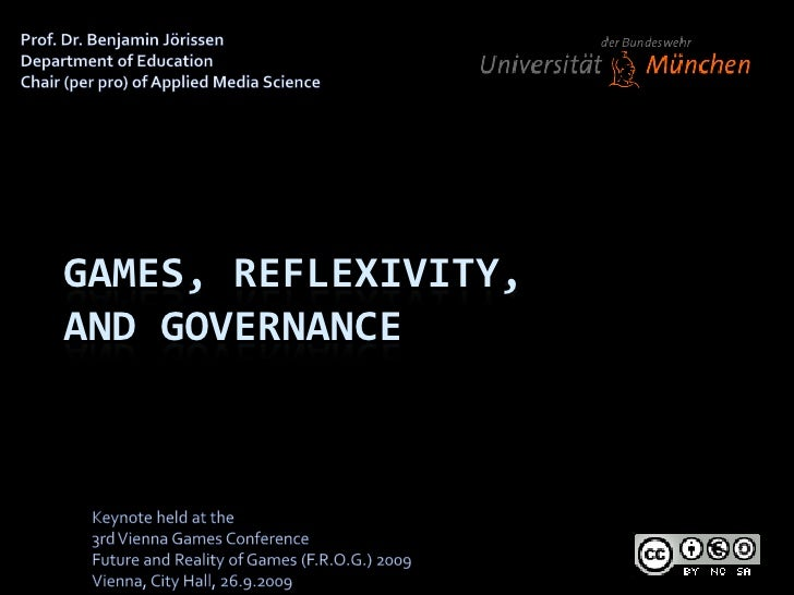 Prof. Dr. Benjamin Jörissen<br />Department of Education<br />Chair (per pro) of Applied Media Science<br />Games, Reflexi...