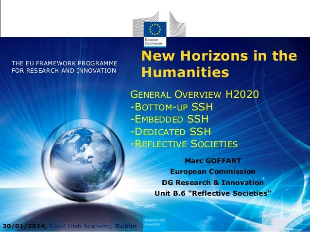 New Horizons in the Humanities  THE EU FRAMEWORK PROGRAMME FOR RESEARCH AND INNOVATION  GENERAL OVERVIEW H2020 -BOTTOM-UP ...