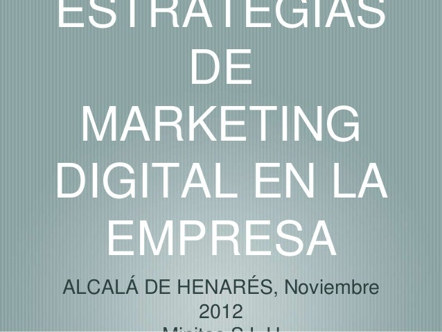 Estrategias de Marketing Digital en la Empresa