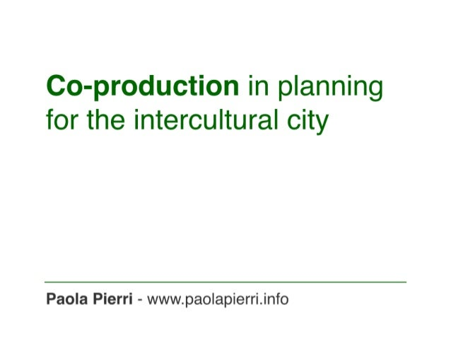Co-production in planning for the intercultural city
