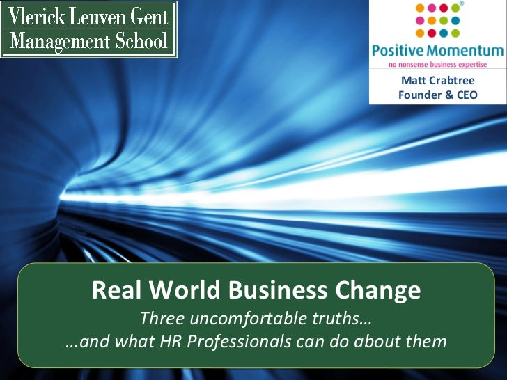 Real World business change - Keynote speaker Matt Crabtree