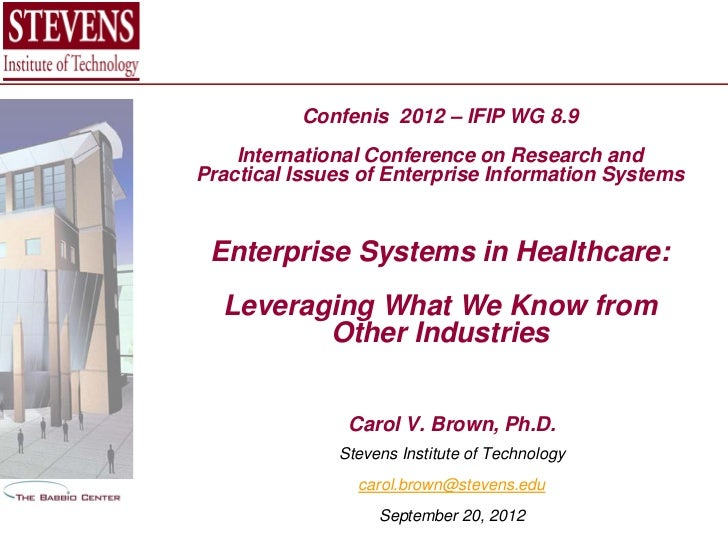 Confenis 2012 – IFIP WG 8.9    International Conference on Research andPractical Issues of Enterprise Information Systems ...
