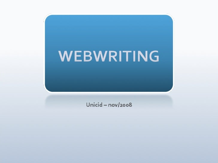 Keynote Webwriting 1