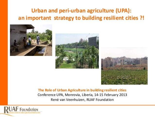 Keynote wg5 wg6_van veenhuizen_resilient cities