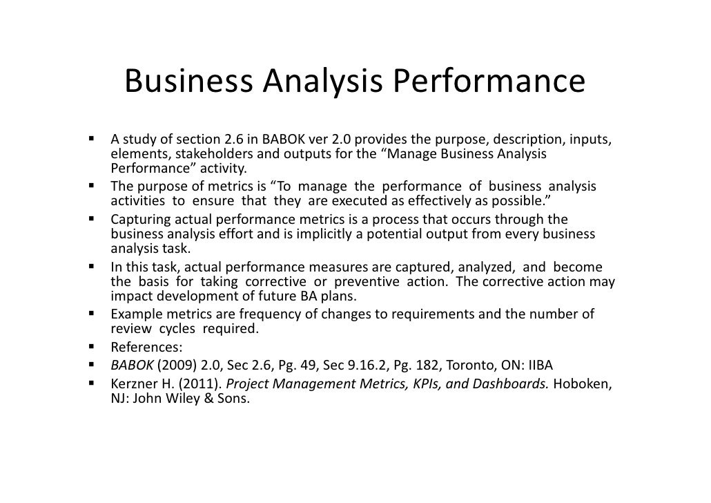 Case Study in the use of Key Performance Indicators