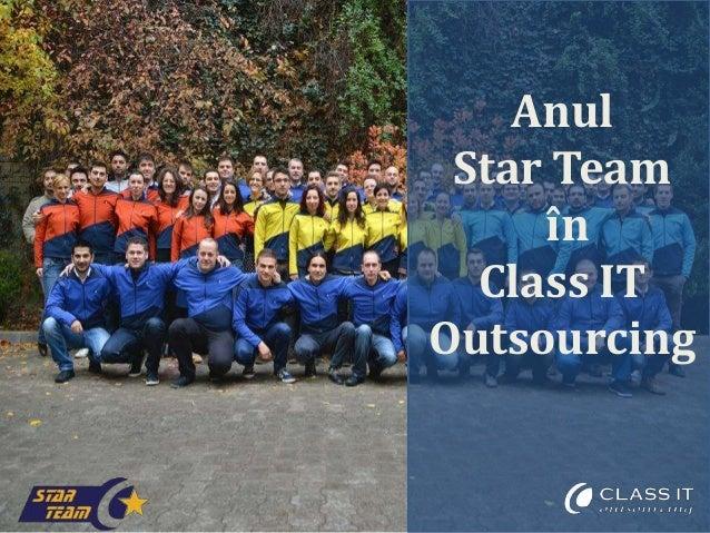 Anul Star Team în Class IT Outsourcing