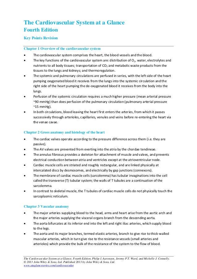 Keypoints cardiovascularataglance