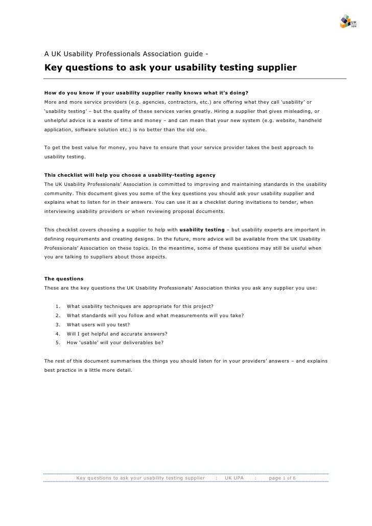 Key Questions For Ux Professionals