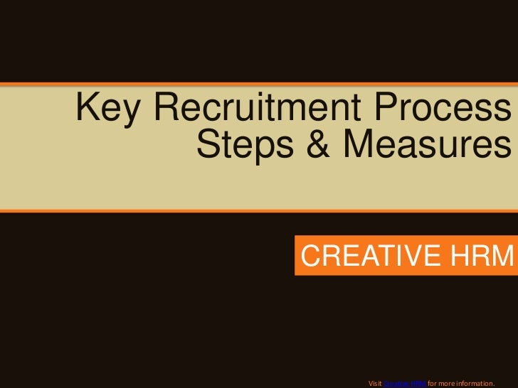 Key Recruitment Process      Steps & Measures           CREATIVE HRM               Visit Creative HRM for more information.