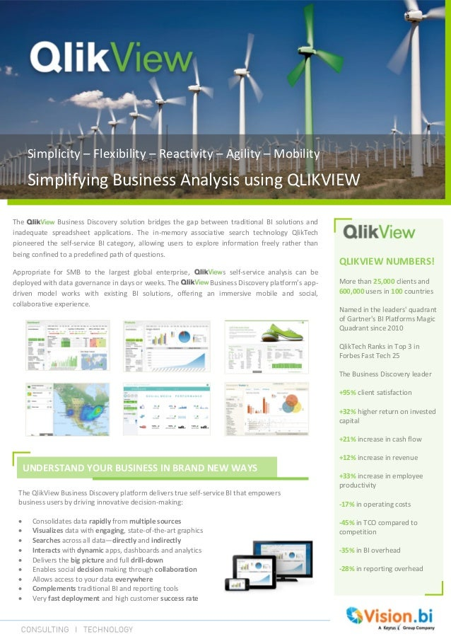 Simplicity – Flexibility – Reactivity – Agility – MobilitySimplifying Business Analysis using QLIKVIEWUNDERSTAND YOUR BUSI...