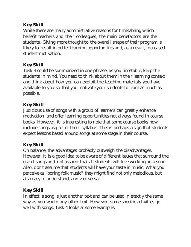 What is key skills in resume example