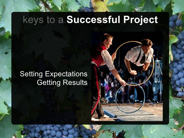 keys to a Successful ProjectSetting Expectations      Getting Results