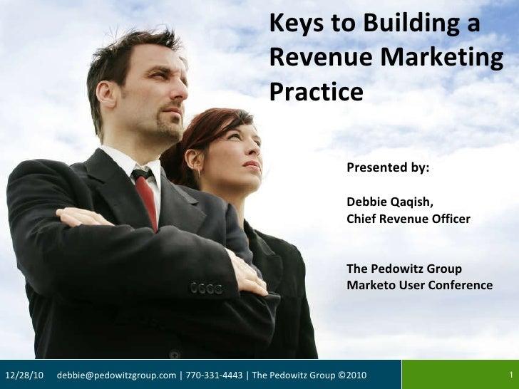 <ul><li>Presented by: </li></ul><ul><li>Debbie Qaqish,  </li></ul><ul><li>Chief Revenue Officer </li></ul><ul><li>The Pedo...