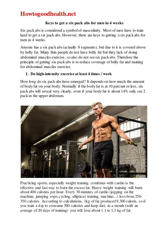 how to six pack abs in 2 weeks