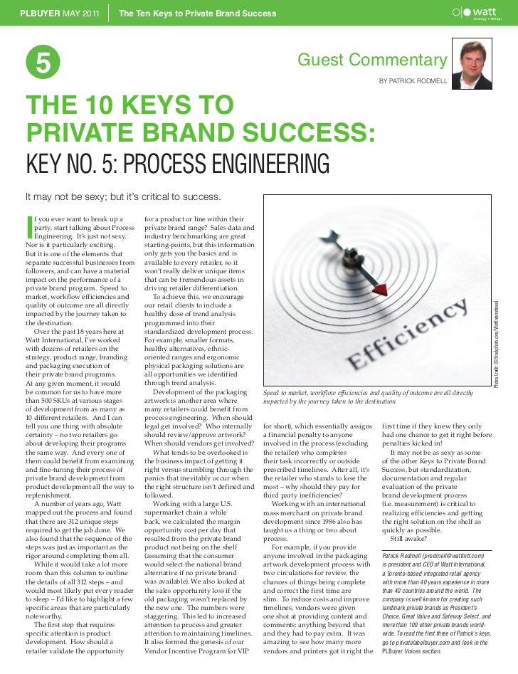 The Ten Keys to Retail Brand Success - Part 5