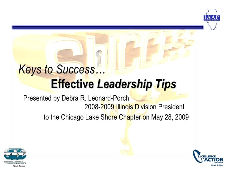 Keys To Success Effective  Leadership