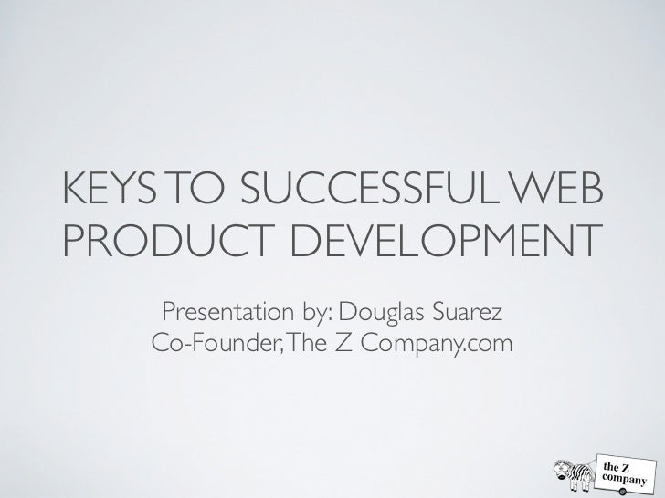 Keys to successful web product