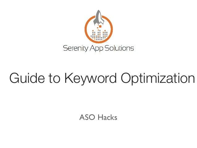 Guide to Keyword Optimization ASO Hacks