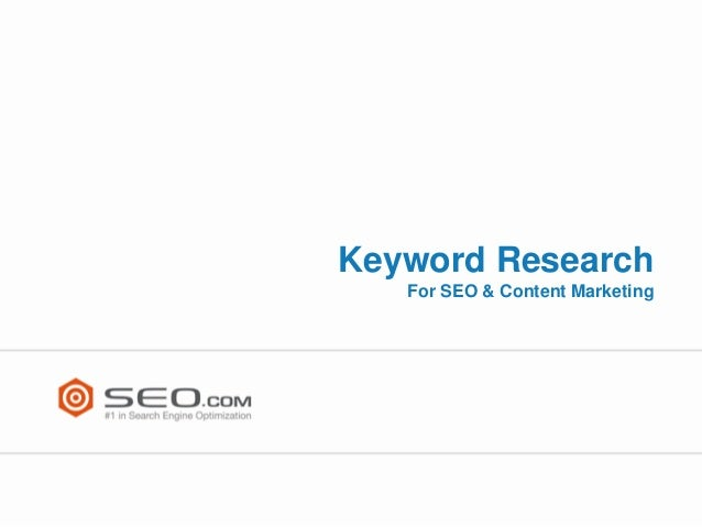 Keyword Research for Organic Search Marketing