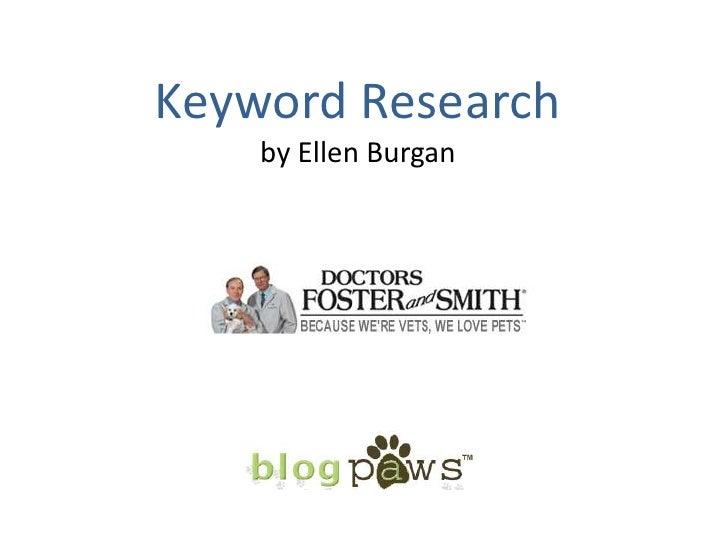 BlogPaws 2010 - SEO Tips: Ellen Burgan
