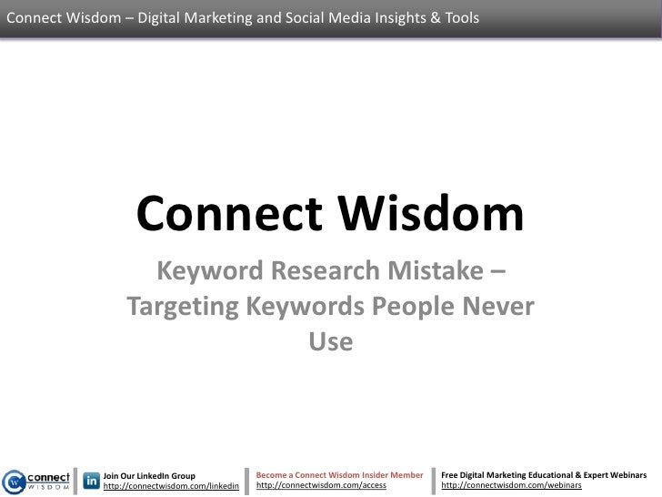 Keyword Research Mistake – Targeting Keywords People Never Use
