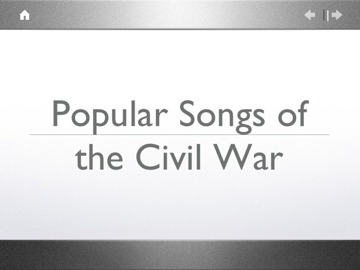 Popular Songs of the Civil War