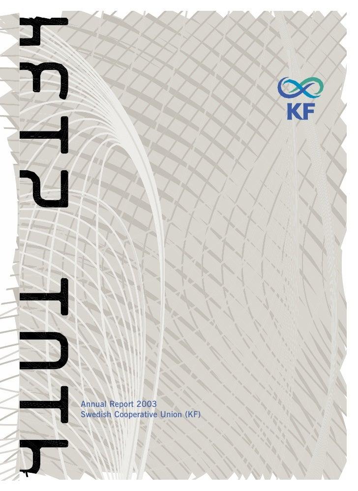 Annual Report 2003 Swedish Cooperative Union (KF)