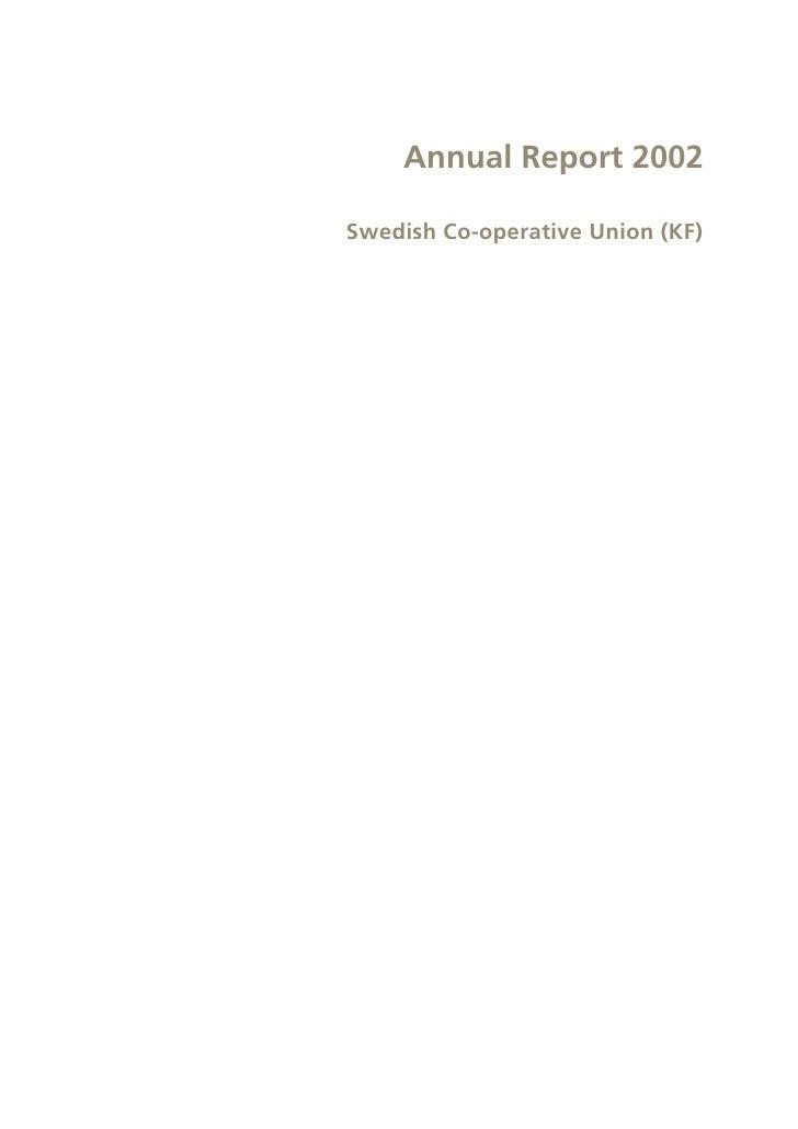 Annual Report 2002  Swedish Co-operative Union (KF)