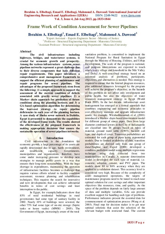 Ibrahim A. Elbeltagi, Emad E. Elbeltagi, Mahmoud A. Dawood / International Journal of Engineering Research and Application...