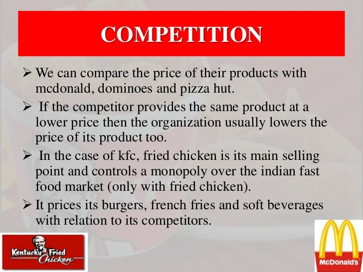 price strategy of kfc Kfc corporation - introduction strategy in malaysia kfc corporation – introduction strategy in malaysia they also need to lower the price in the case of kfc.