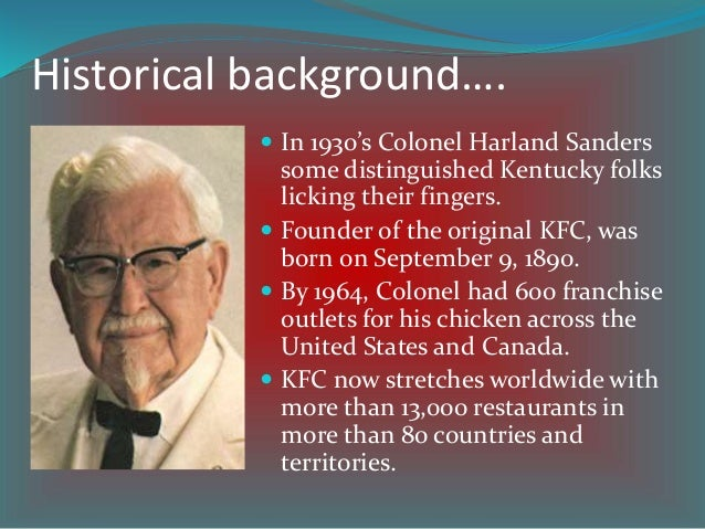malaysia kfc background Essays - largest database of quality sample essays and research papers on malaysia kfc background.