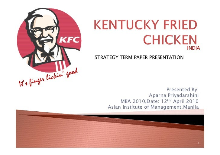 kfc marketing research Research proposal jamalia 2  from this research, it also can help kfc restaurant in reducing its  or blueprint for conducting the marketing research .