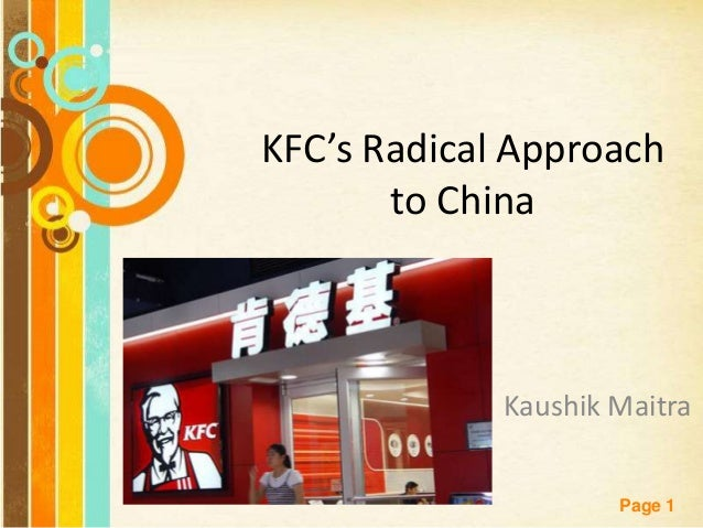 kfcs radical approach to china case study