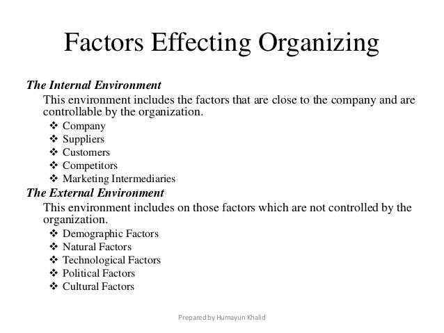 External Factors Affecting Human Resources