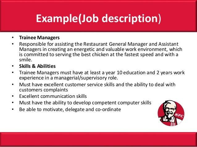 kfc job discribtion Kfc team member jobs now available team leader, fast food attendant, team member and more on indeedcouk.