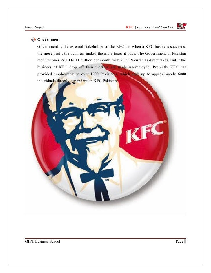 kfc stakeholders Kfc's near disaster is an example of how negative media coverage only makes a difference—amplifying the news and accelerating reputational and financial damage—when there's a gap between stakeholders' expectations and actual performance.