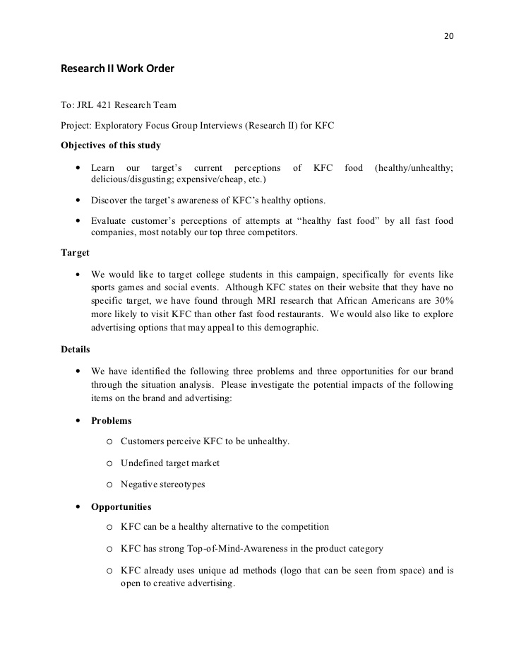 How To Write A Resume For Kfc