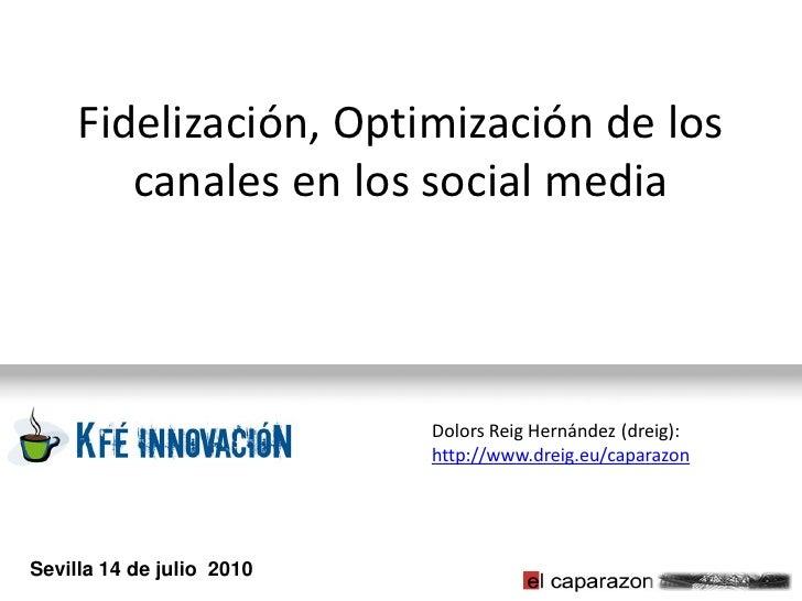 Fidelización, Optimización de los         canales en los social media                               Dolors Reig Hernández ...