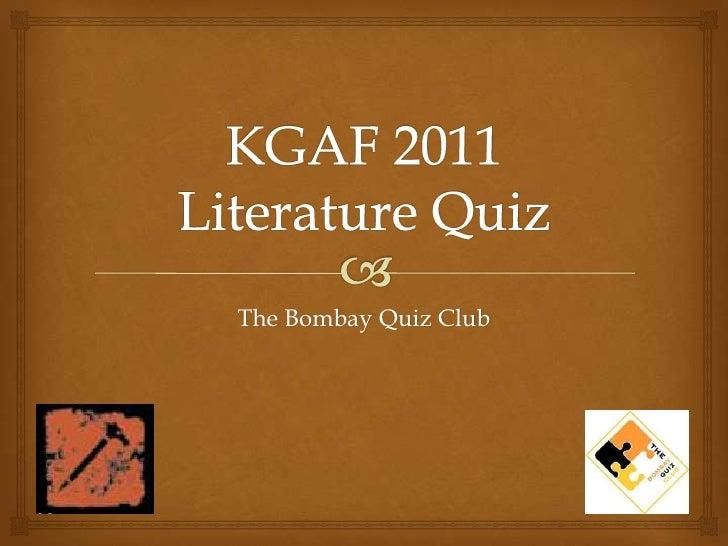 Kala Ghoda Arts Festival 2011 - Literature Quiz - Prelims