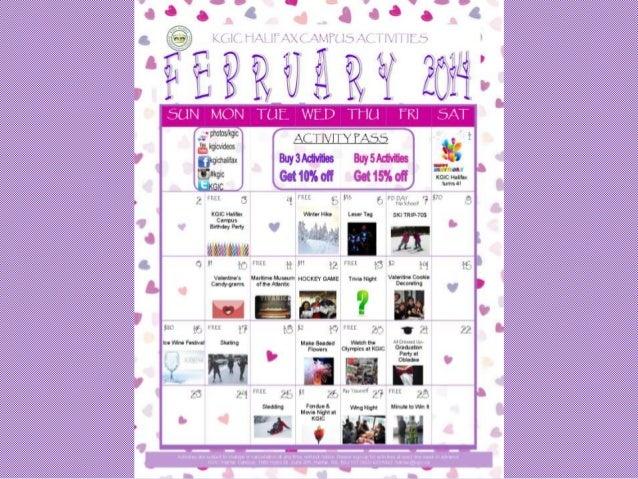 KGIC Halifax Campus - February 2014 Activities