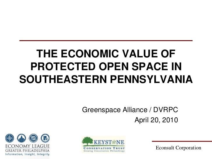 Economic Value of Open Space in Pennsylvania