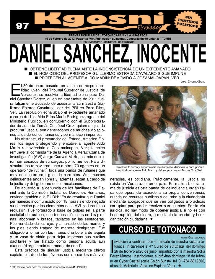 PRENSA POPULAR DEL TOTONACAPAN Y LA HUASTECA                            15 de Febrero de 2012. Papantla, Ver. Publicación ...
