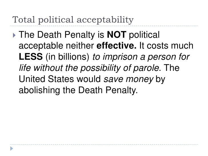 A good thesis statement for a persuasive essay for the death penalty?