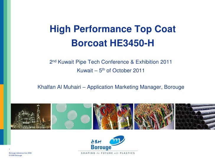 High Performance Top Coat                                      Borcoat HE3450-H                                  2nd Kuwai...