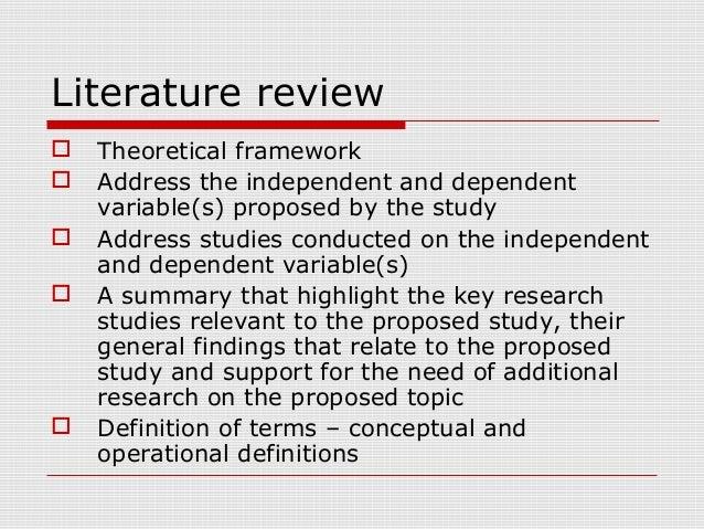 Literature Review Methods - Stanford University